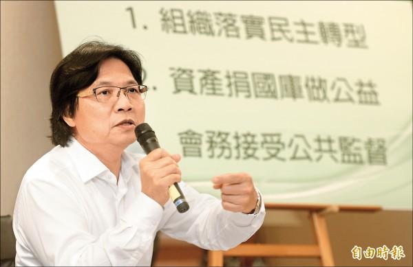 內政部長葉俊榮表示婦聯會時代任務結束,將以回歸公益做為處理婦聯會的主要原則,讓資產回歸全民。(記者林正堃攝)