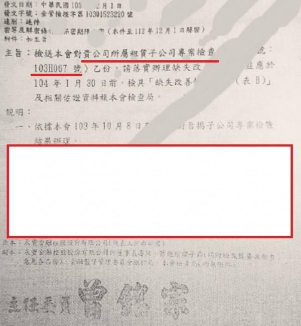 黃國昌PO出公文反擊。(圖擷取自黃國昌臉書)