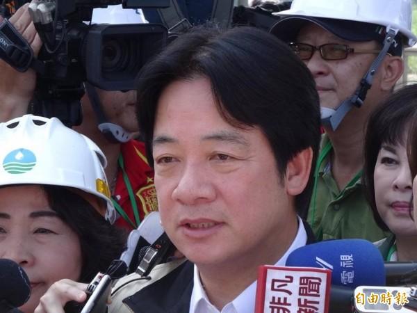 游錫堃希望民進黨能徵召賴清德參選新北市長。(資料照,記者蘇芳禾攝)