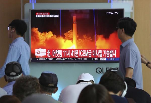 美國智庫「戰略與國際問題研究中心」表示,繼美國、俄羅斯、中國等國後,北韓已成為第5個擁有ICBM的國家。(美聯社)