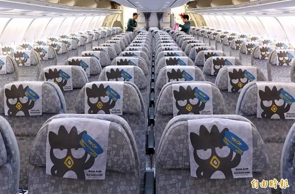 長榮航空因空服組員報到人數不足,取消42航班,影響近萬人。(資料照)