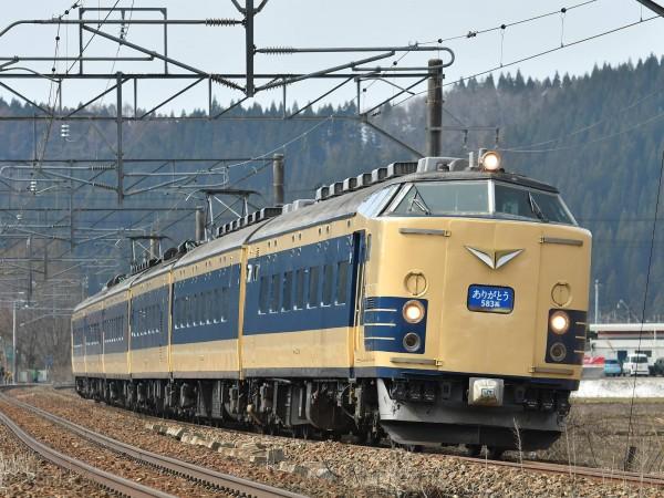 「世界最早臥鋪電車」583系電車。(圖擷取自文化部臉書)