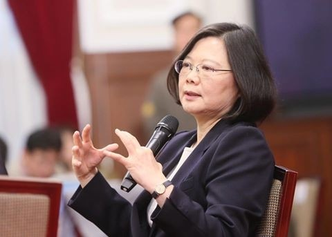 總統蔡英文今日上午接見「中華民國獸醫師公會全國聯合會」名譽理事長、第七屆理監事暨重要幹部及各縣市公會理事長,肯定該會走向國際舞台,讓世界更加了解台灣。(資料照)