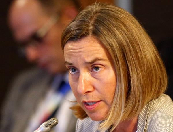歐盟外交和安全政策高級代表茉格里尼。(歐新社)