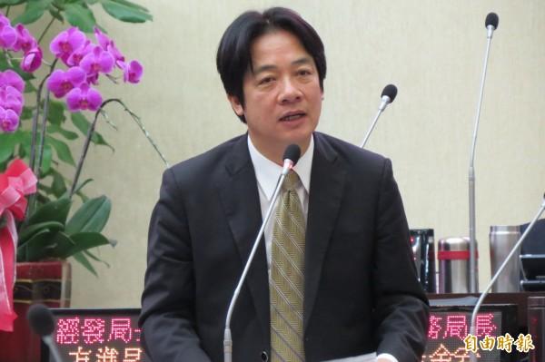 台南市長賴清德被點名是民進黨下屆新北市長人選的不二人選,黨內徵召的傳聞不斷。(資料照,記者蔡文居攝)