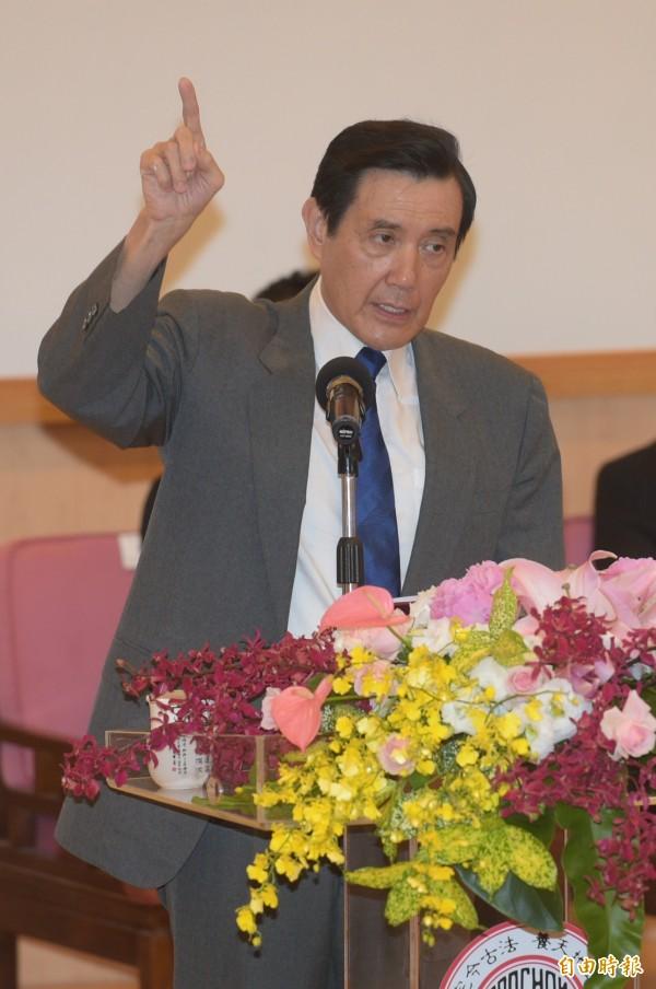 國民黨前主席馬英九。(資料照,記者張嘉明攝)