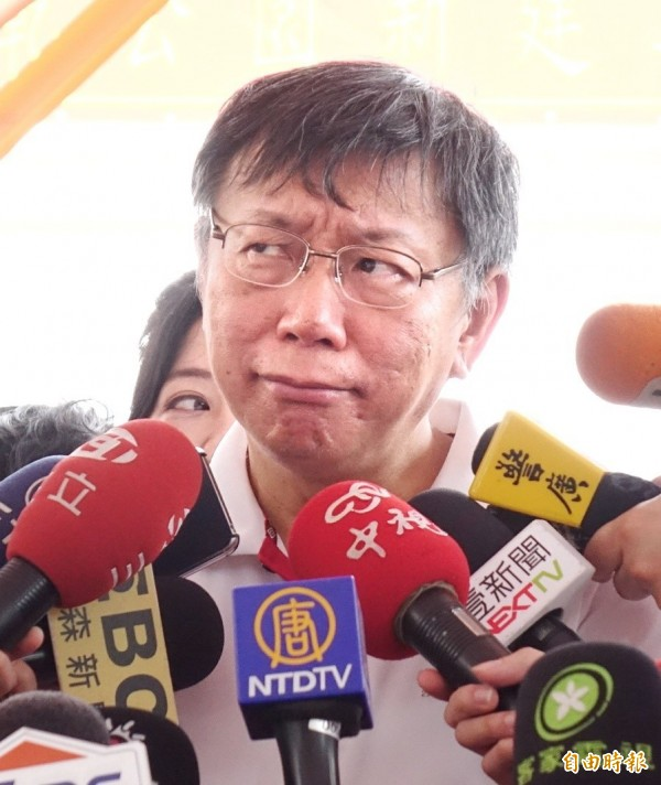 台北地院今(9日)傳喚訪問記者,證實柯文哲稱趙藤雄是「狗改不了吃屎」,本案將於8月底宣判。(資料照,記者方賓照攝)