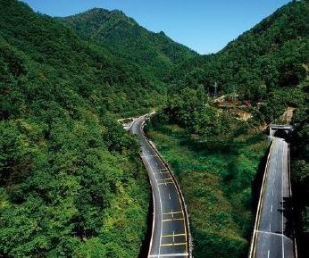 中國西漢高速公路陝西段的秦嶺隧道,1輛巴士撞牆釀36死13傷。(圖擷自微博)