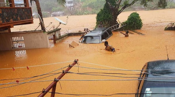 非洲國家獅子山(Sierra Leone)暴雨釀災。(法新社)