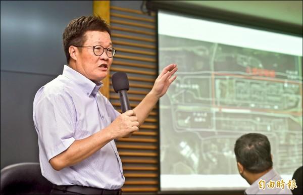 八一五大停電事件,中油董事長陳金德昨日舉行記者會說明,表示未按標準作業程序(SOP),導致大潭電廠六部發電機組因斷氣全跳機。(記者方賓照攝)