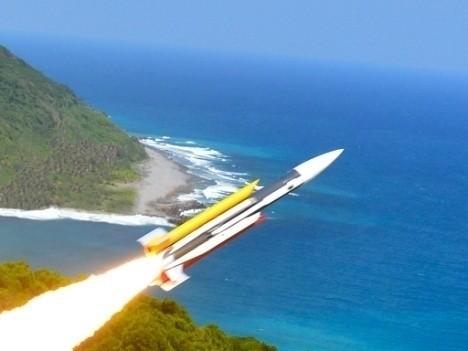 國家中山科學院首次以動畫方式呈現我國與中國各式武器軍艦。圖為我國雄三飛彈。(圖取自中科院官網)