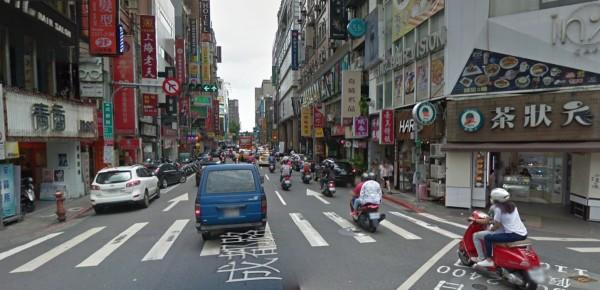 台北西寧南路、成都路一帶傳出又停電了!(圖擷取自Google map)