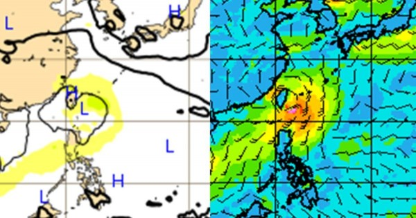 吳德榮分享歐洲預報中心模式(左)與美國GFS模式預測結果(右),指出兩者的環流位置幾乎完全一致。(擷取自洩天機教室)