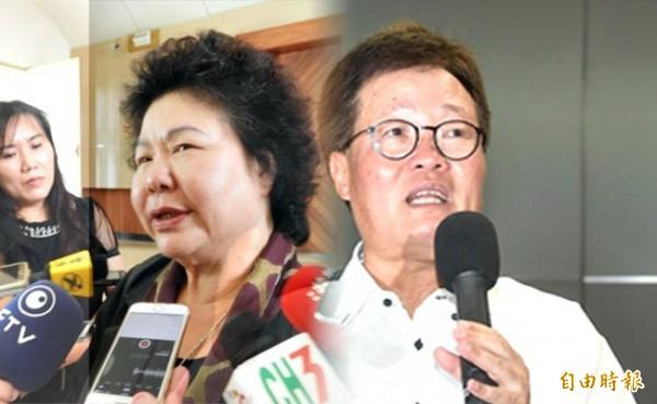 針對中油董事長陳金德請辭,高雄市長陳菊表示,「我們尊重他」。(合成圖。資料照,記者葛祐豪攝;記者方賓照攝)