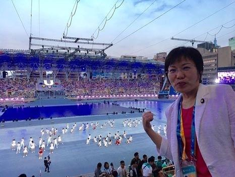 立委劉世芳譴責抗議團體在世大運開幕式不理性的行為,已踐踏台灣尊嚴(翻攝臉書)