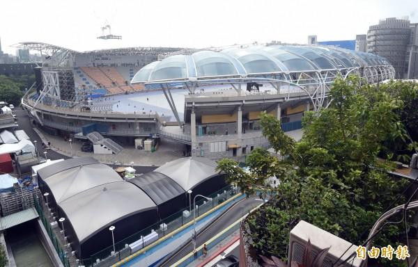 世大運開幕典禮將在台北田徑場舉行,籌委會表示已有劇本因應停電。(記者廖振輝攝)