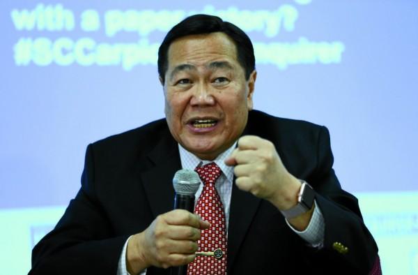 菲律賓最高法院大法官卡皮奧(Antonio Carpio)指責中國「侵犯菲律賓領土」,並呼籲政府做出行動。(Inquirer.net)