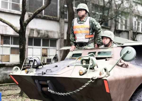 國軍第四作戰區已預置兵力至災防區整備,保護民眾生命財產安全。(圖:陸軍第八軍團提供)