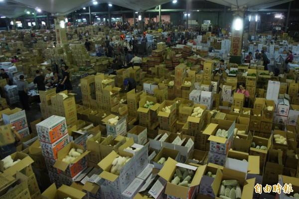 圖為大台北地區最大批發市場。(資料照)