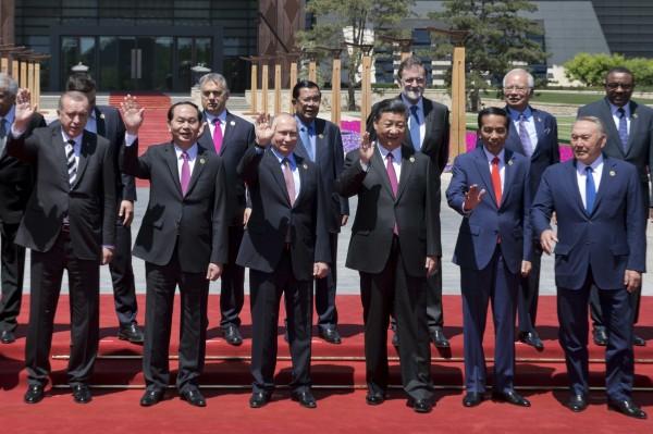中國國家主席習近平今年五月邀請一帶一路成員國在北京集會。(美聯社)