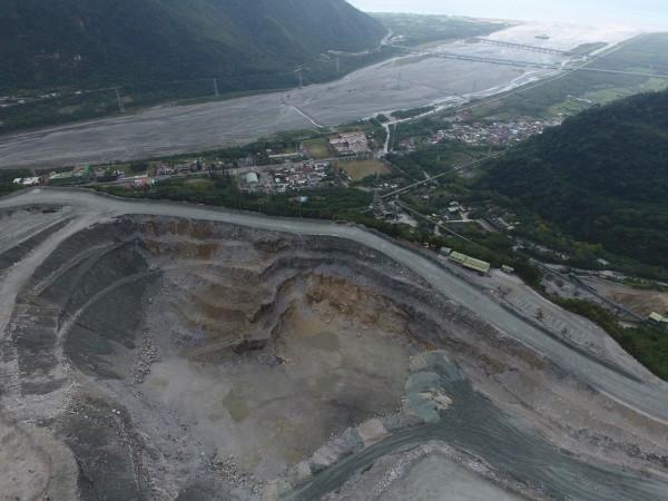 亞泥新城山礦場。(地球公民基金會提供)