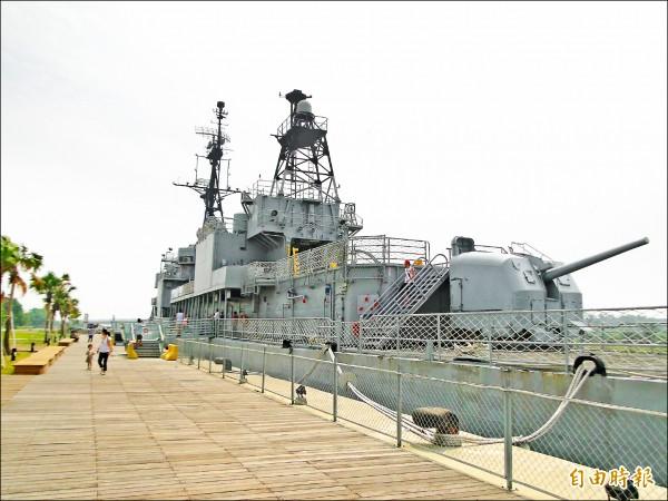 全國唯一保留「陽」字號的德陽艦。(記者洪瑞琴攝)