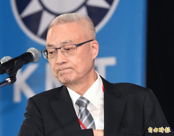 國民黨新任黨主席吳敦義。(資料照,記者廖振輝攝)