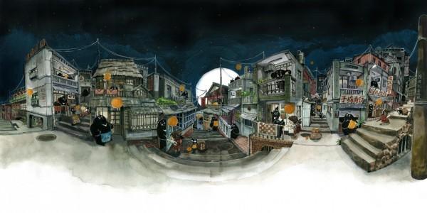 超強透視全景插畫引起網友瘋傳,原來作者諾米竟然曾參與桌遊《台北大空襲》製作。(圖片由Nuomi 's 諾米授權使用)
