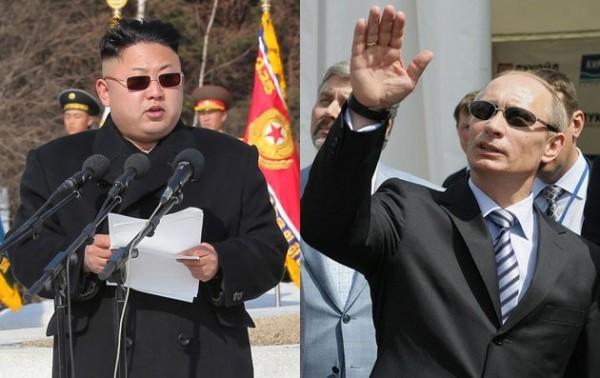北韓政府擔心國家領導人金正恩(圖左)遭到美韓使用無人機暗殺,特地找了前蘇聯國安人員來護駕。(資料圖 路透)
