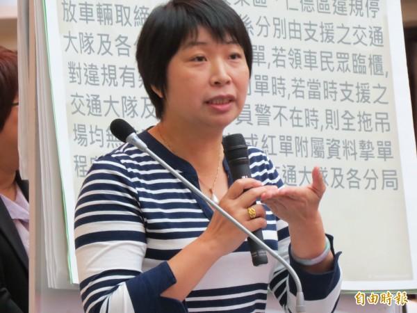 台南地檢署偵辦詐領議員助理費案,,市議員陸美祈這次如果無法全身而退,未來連任之路恐面臨極大挑戰。(記者蔡文居攝)