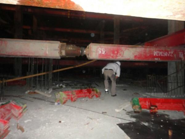 宜蘭縣羅東鎮一處建築工地傳出工安意外,一名歐姓工人被鋼樑壓住釀成悲劇。(記者張議晨翻攝)