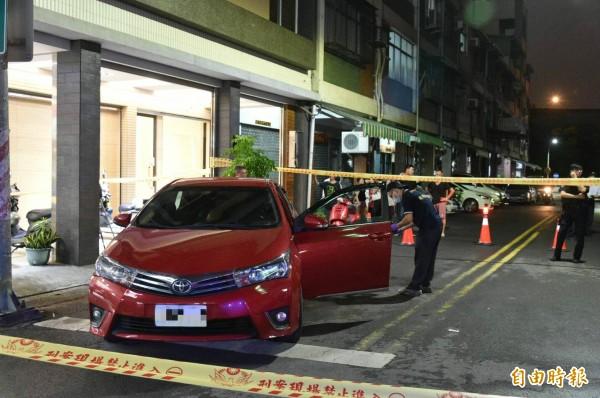 嫌犯開的車輛。(記者張忠義攝)