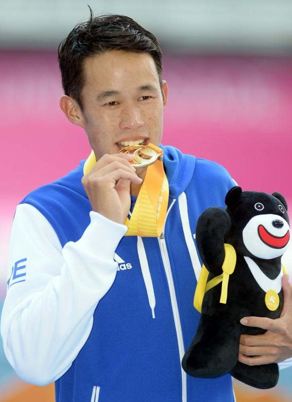 台灣網球好手莊吉生於29日賽後受訪時,以台語回覆記者提問,意外引發網友論戰。(資料照,記者張嘉明攝)