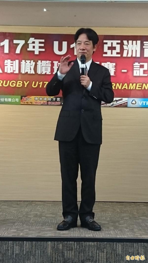 台南市長賴清德對於週五將北上接閣揆一事,未正面回應。(記者劉婉君攝)