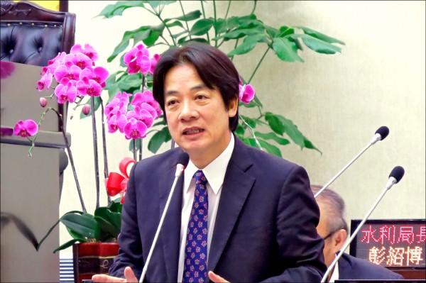 台南市長賴清德將接任閣揆。(資料照)