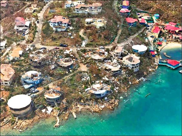 美屬維京群島慘重災情且至今尚未復原。(美聯社)