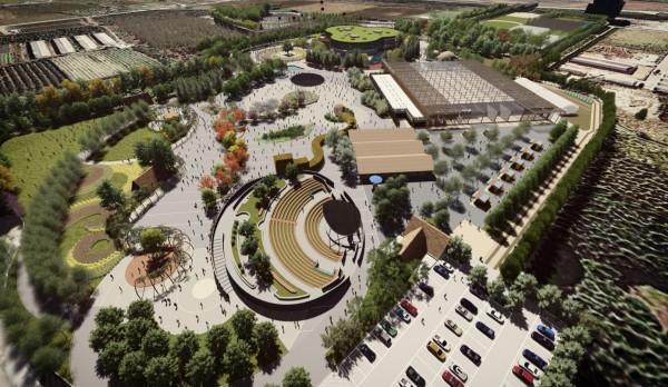 台中花博外埔園區將規劃吉祥物虎爸的專屬農場。(中市水利局提供)