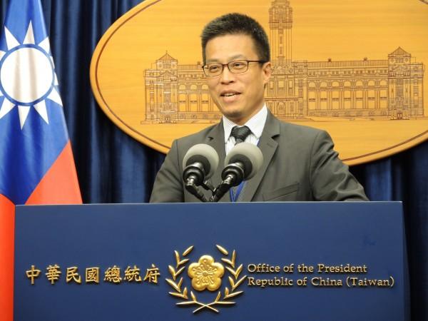 總統府發言人黃重諺表示政府從未聽聞此一說法。(資料圖 中央社)