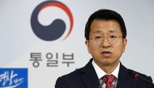 南韓統一部發言人白泰鉉指出,預計將一據北韓居民遺體送還給北韓,但在知會北韓之後,到目前為止尚無回應。(圖擷取自韓聯社)