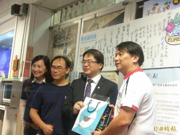 2017Eureka台南國際兒童電影節,南市代理市長李孟諺(左3)出席頒獎典禮。(記者洪瑞琴攝)