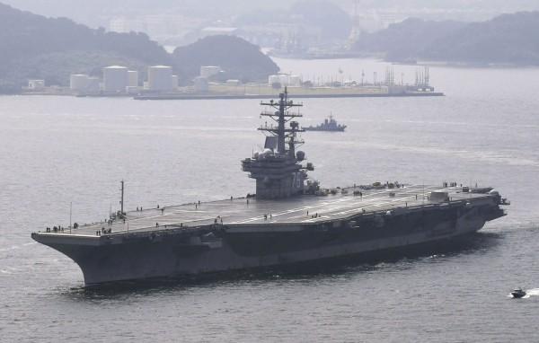 南韓及美國為了反制北韓,將於10月迎接美軍核子動力航空母艦雷根號前來朝鮮半島參與聯合演習。(路透)