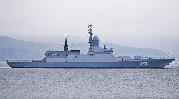 中俄海軍自18日開始在日本海及鄂霍次克海實施聯合軍演,此舉被認為可能意在牽制美日韓3國對北韓的一連串軍事活動。圖為俄軍輕型護衛艦(圖擷取自今日俄羅斯)