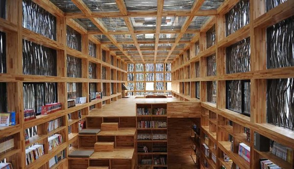 中國北京懷柔區的「籬苑書屋」,今(19)日被爆出這間公益圖書館收藏盜版圖書。(圖取自「李曉東工作室」網站)