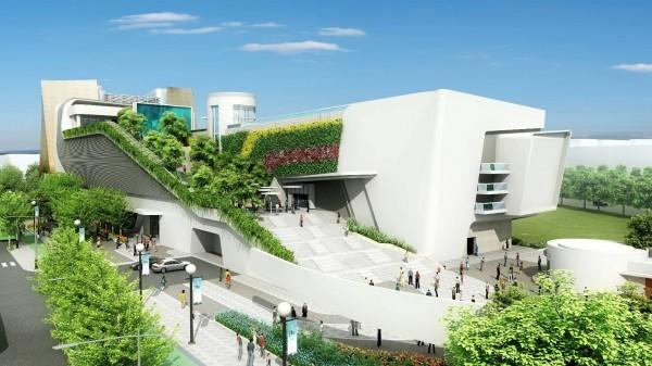 國家級的動漫博物館將設立在台中的中台灣電影中心(市府提供,中台灣電影中心的模擬圖)