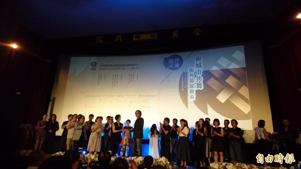 「幸福設計在台南」、「與城市共舞」,今日在全美戲院盛大宣傳。(記者洪瑞琴攝)