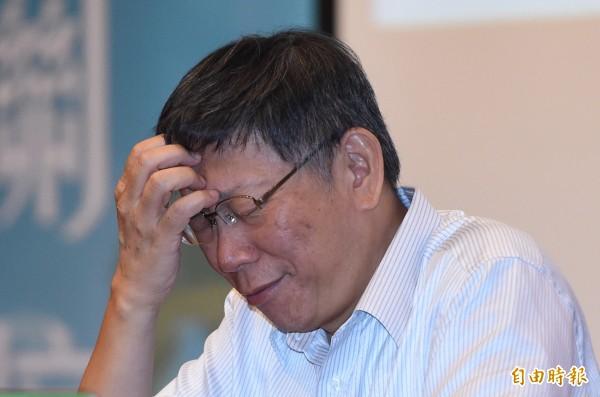 台北市長柯文哲昨日在「總統直選與民主台灣」學術研討會大談兩岸議題,強調兩岸頻繁交流後,越會發現根本是不同國家。(記者廖振輝攝)