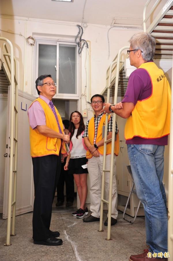 清華大學南大校區學生宿舍,還有150個空床位。(記者洪美秀攝)