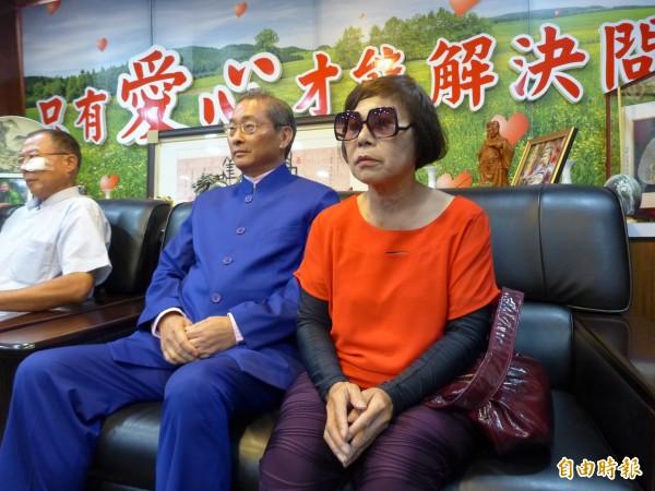 「白狼」張安樂對於統促黨成員楊紹瑞攻擊學生一事,竟然說「打得好!」(記者王冠仁攝)
