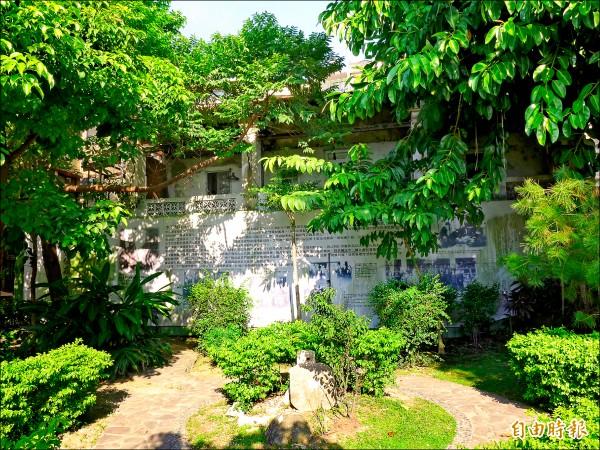 木下靜涯舊居周邊綠蔭環繞。(記者李雅雯攝)