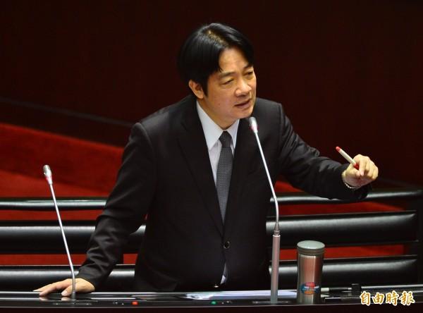 立法院院會,行政院長賴清德進行施政報告並備詢,今在院會上聲明「我是主張台灣獨立的政治工作者」。(記者王藝菘攝)